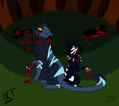 :Collab: Dude did we just kill someone? by M00N-KITTEN