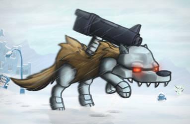 Robot Wolf by DipFanken