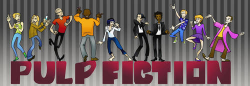 Pulp Fiction F-king Dancing by Grrrenadine