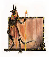 Anubis Standing by kaizerin
