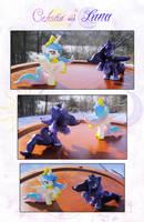 My Little Pony Luna and Celestia Blindbag Custom by kaizerin