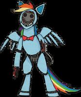 My Little Pony Rainbow Dash Animatronic by kaizerin