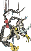 My Little Pony Discord Mangle Animatronic by kaizerin