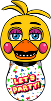 FNAF Toy Chica shirt design by kaizerin