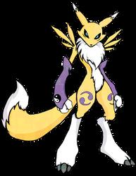Digimon Renamon shirt design by kaizerin