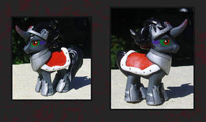 My Little Pony Custom - King Sombra Blindbag by kaizerin