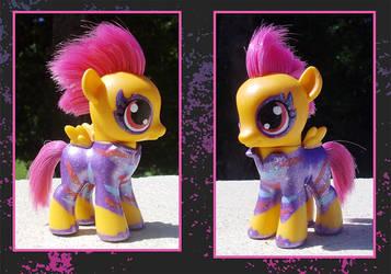 My Little Pony Custom - Scootaloo by kaizerin