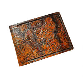 WOW Azeroth map Leather Wallet, full back view by Bubblypies