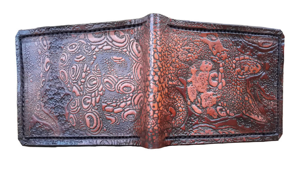 Octokitten cryptozoology leather wallet by Bubblypies