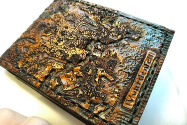 Morrowind I map leather wallet by Bubblypies