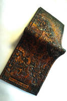 Morrowind I map leather wallet, full by Bubblypies