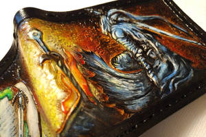 Artorias and Sif leather wallet 2 by Bubblypies