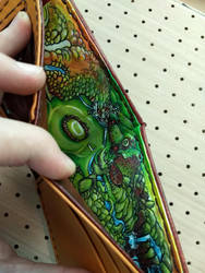 Map of Hyrule added inside vegan handmade wallet by Bubblypies