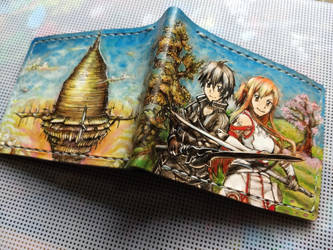 Sword art online leather wallet spine by Bubblypies