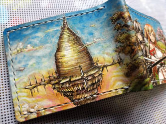 Sword art online leather wallet back by Bubblypies