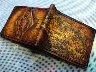 Skyrim leather wallet 1 by Bubblypies