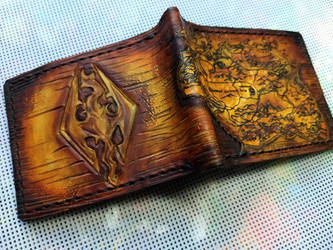 Skyrim leather wallet 2 by Bubblypies