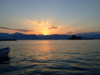 Sunset at Nafplion 2 by thetrepidation