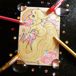 + Pkmn Rainbow + Ninetales + by AngeKrystaleen