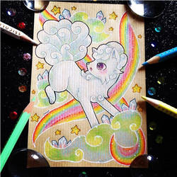 + Pkmn Rainbow + Alolan Vulpix + by AngeKrystaleen