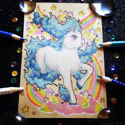 + Pkmn Rainbow + Shiny Rapidash + by AngeKrystaleen