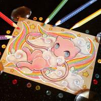 + Pkmn Rainbow + Mew + by AngeKrystaleen