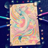 + Com + Rainbow Dragonair + by AngeKrystaleen