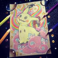 + Com + Rainbow Mimikyu + by AngeKrystaleen
