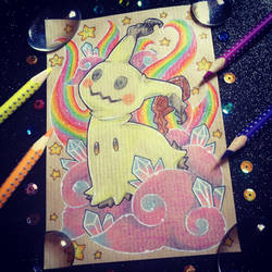 + Com + Rainbow Mimikyu + by AngeKrystaleen