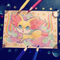 + Com + Rainbow Fennekin + by AngeKrystaleen
