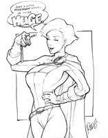 Sketch: Power Girl 2 by redgvicente