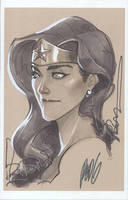 Sketch: Wonder Woman by redgvicente