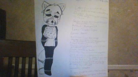 Fnaf OC - Rin the Red Panda. by iiOmqEuxie