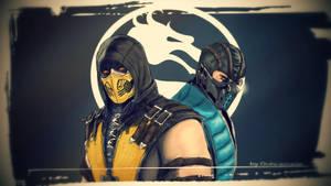 Scorpion and Sub- Zero Mortal Kombat X by Dubcarnage
