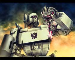 Megatron pwns Bay's Megatron by khaamar