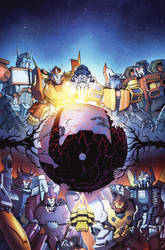 TF Dark Cybertron #1 cover colors by khaamar