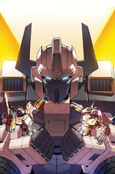TF Dark Cybertron #6 cover colors by khaamar