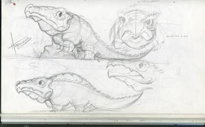 SketchBook Update003 - Aligator by Hugonimus