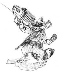 Rocket Raccoon by caffeinejitsu