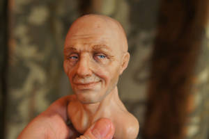 Hero Head in Progress by MarylinFill