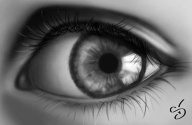 Eye - painted with Photoshop by StephanieVALENTIN