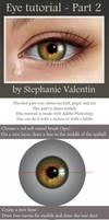 How to draw realistic EYE - Part 2/3 by StephanieVALENTIN