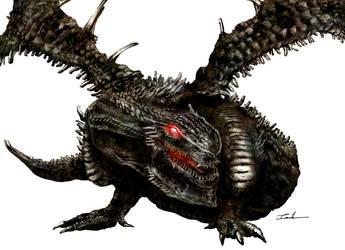 Dark Rock Dragon by TAKA-F