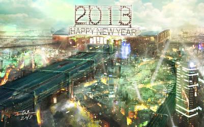 Happy New Year 2013!!! by TAKA-F