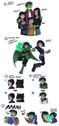 COM- Beast Boy and Raven's family by TiaBlackRaven