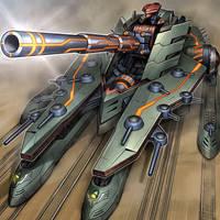 Superdreadnought Rail Cannon Juggernaut Liebe by coccvo
