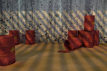Barrel scene by Lambda-lab