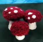 Redcap Mushroom Plushies by sunhawk
