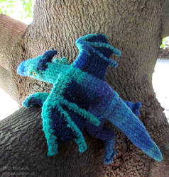Evening Pond Dragon Plushy by sunhawk