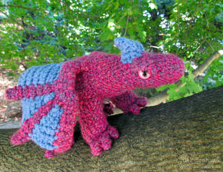 Fushia Lavender Dragon Plushy by sunhawk